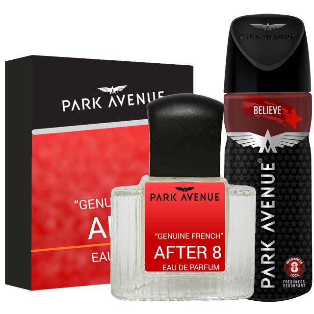 Park Avenue Combo of After 8 Perfume, Believe Deodorant