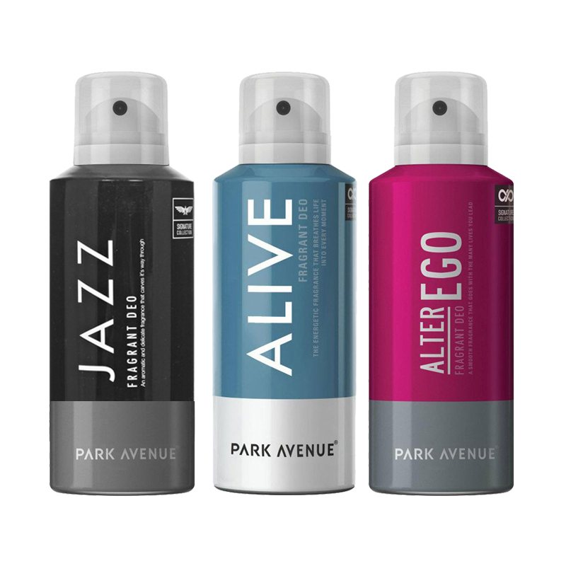 Park Avenue Alive, Alter Ego, Jazz Pack of 3 Deodorants