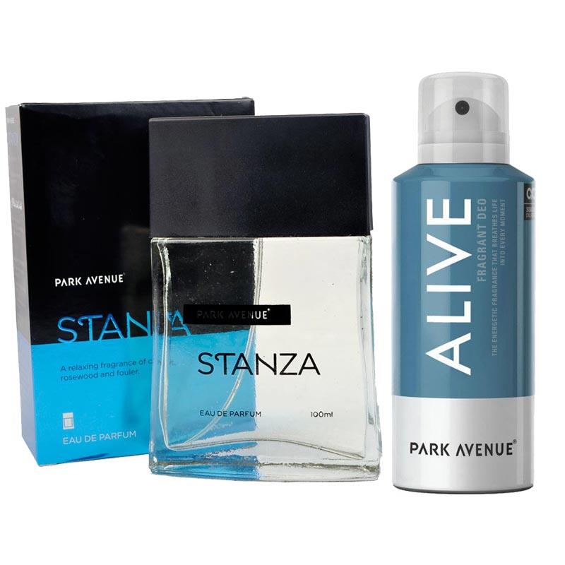 Park Avenue Combo of Stanza Perfume, Alive Deodorant