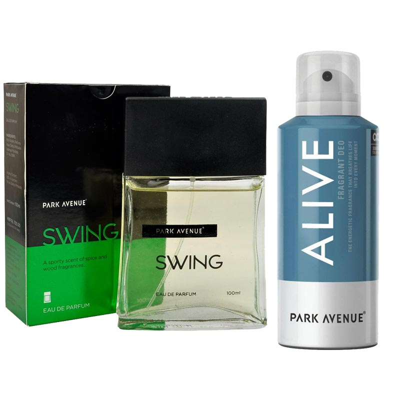 Park Avenue Combo of Swing Perfume, Alive Deodorant