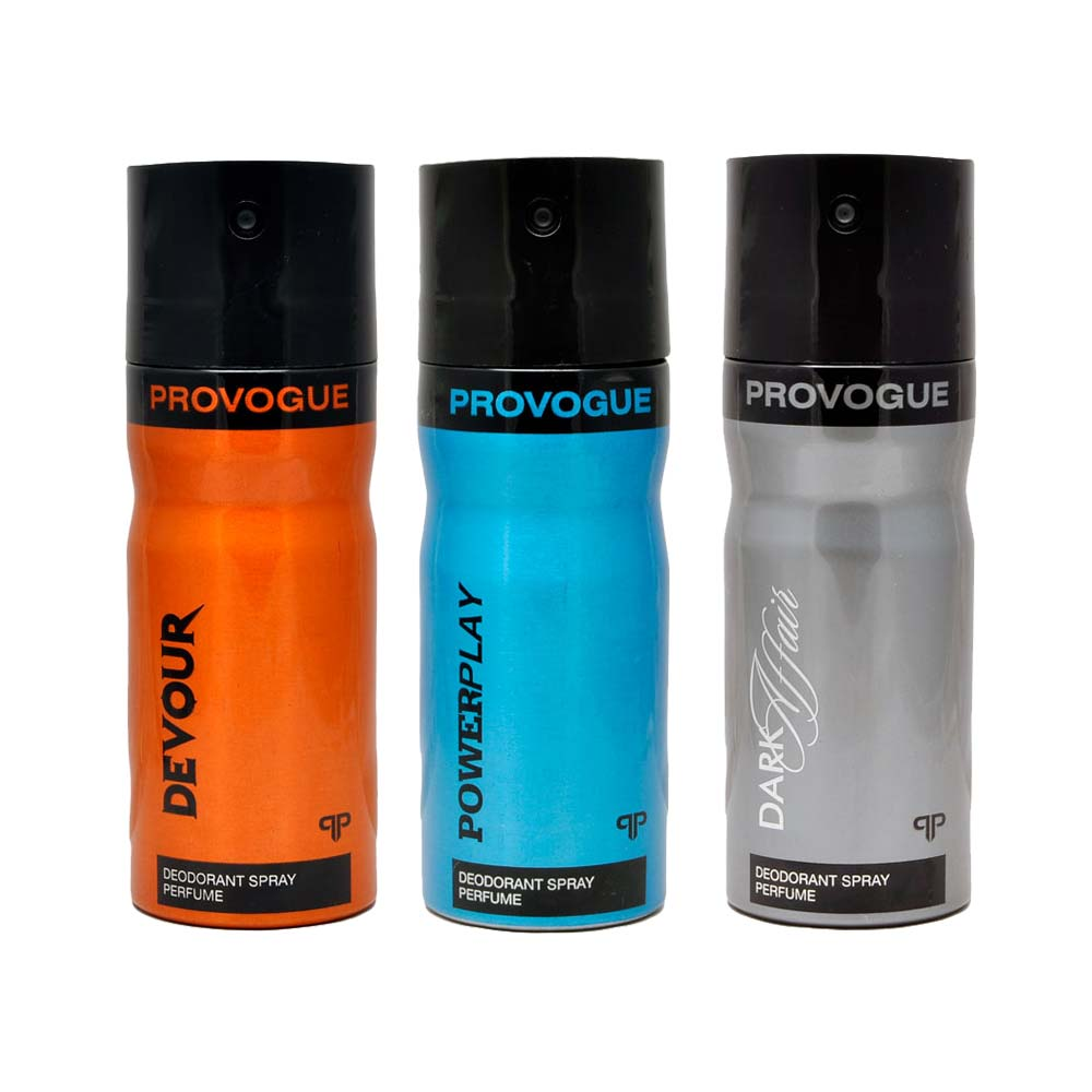 Provogue Dark Affair, Devour, Power Play Pack of 3 Deodorants