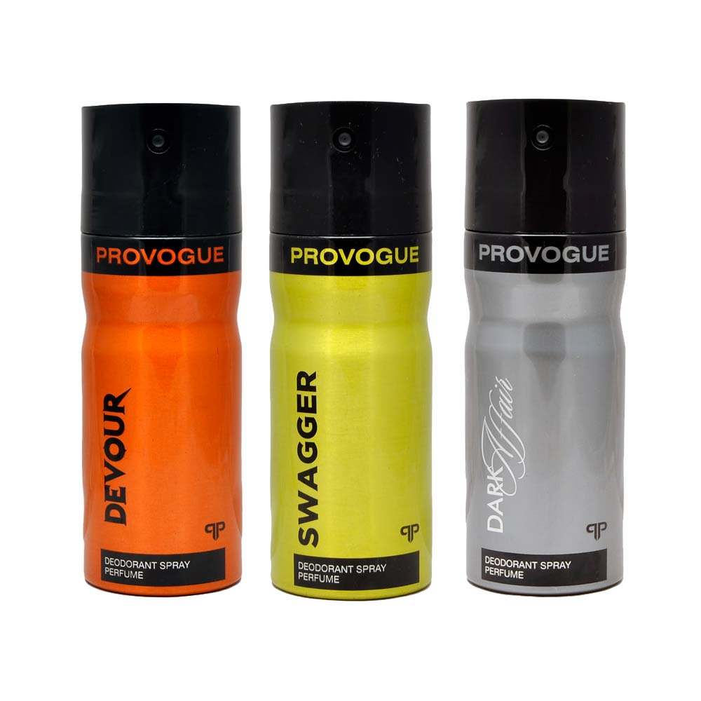 Provogue Dark Affair, Devour, Swagger Pack of 3 Deodorants
