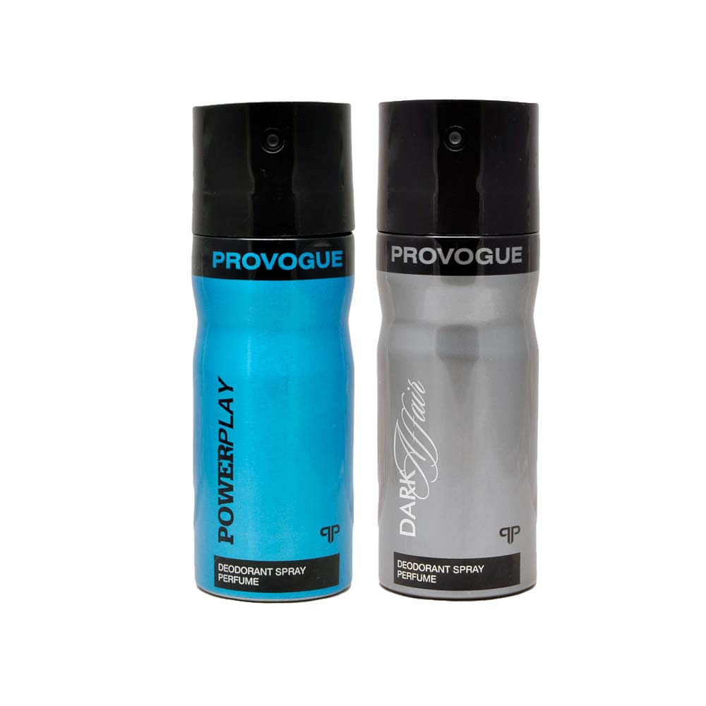 Provogue Dark Affair, Power Play Pack of 2 Deodorants