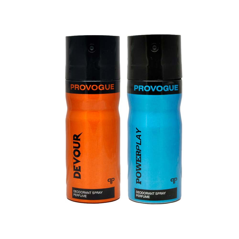 Provogue Devour, Power Play Pack of 2 Deodorants