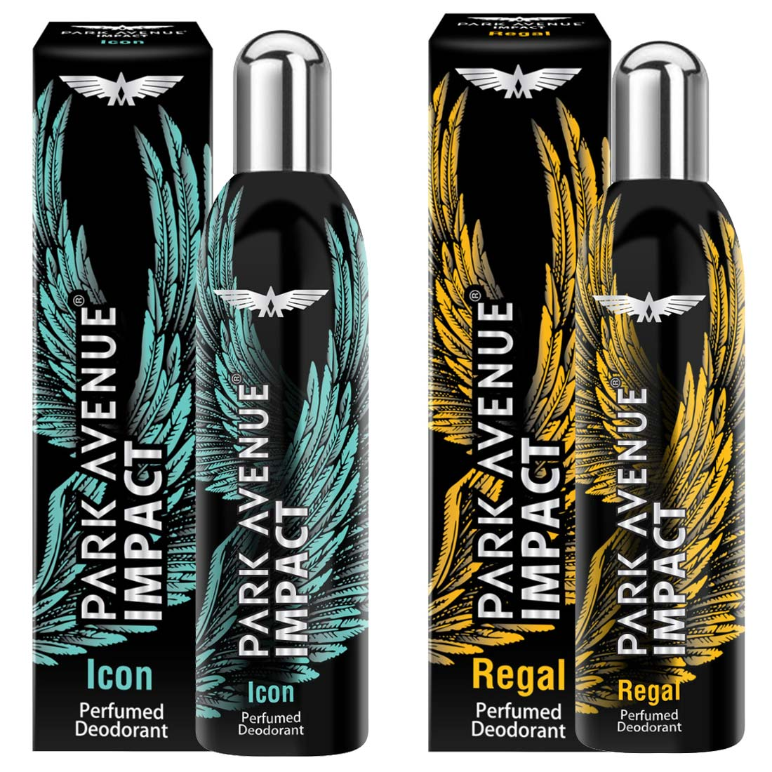 Park Avenue Impact Icon And Regal Pack Of 2 Deodorants