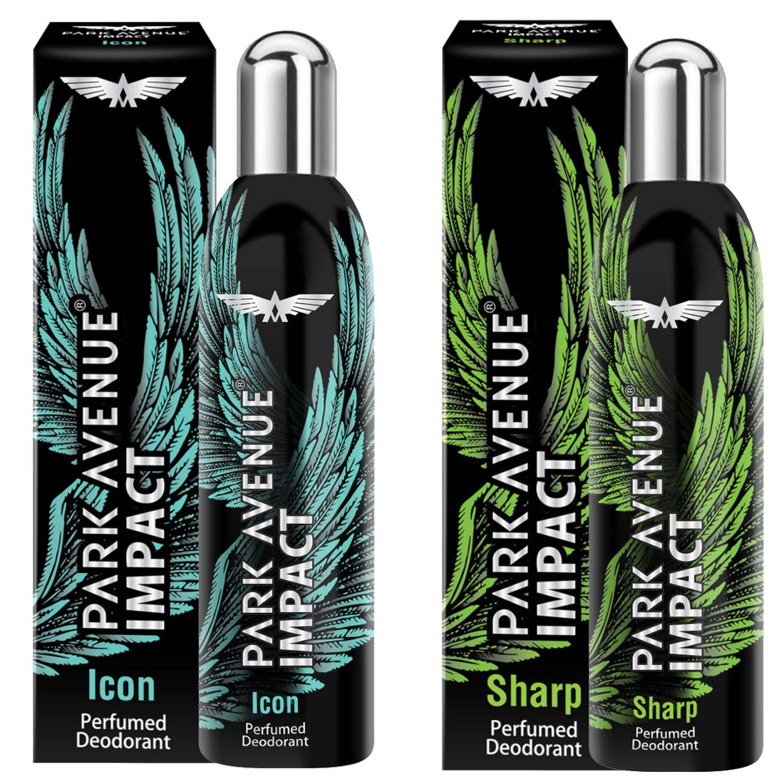 Park Avenue Impact Icon And Sharp Pack Of 2 Deodorants