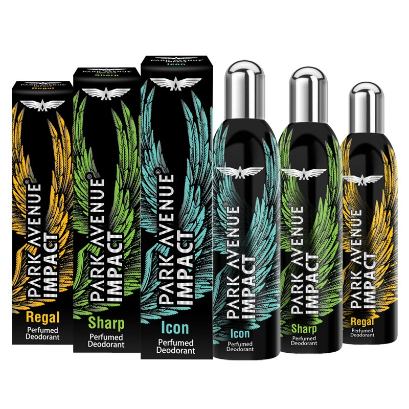 Park Avenue Impact Sharp, Regal And Icon Pack Of 3 Deodorants