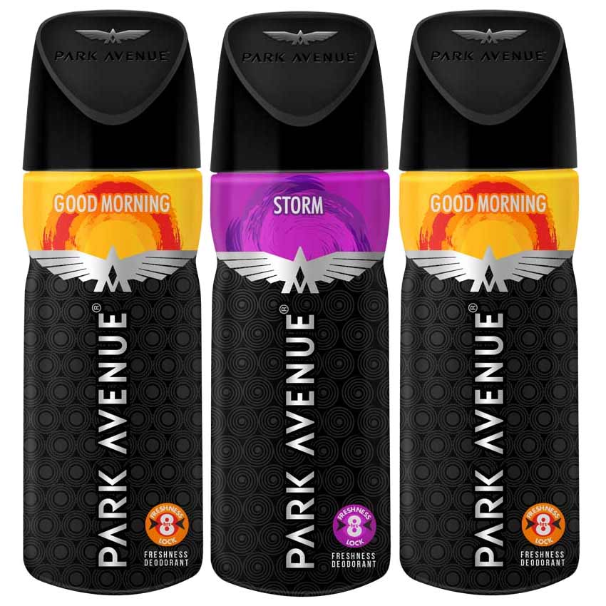 Park Avenue 2 Good Morning And Storm Pack Of 3 Deodorants