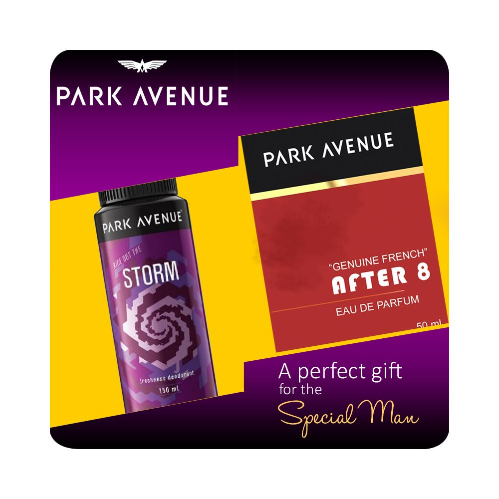 Park Avenue Gift Set Of After8 Perfume And Storm Deodorant
