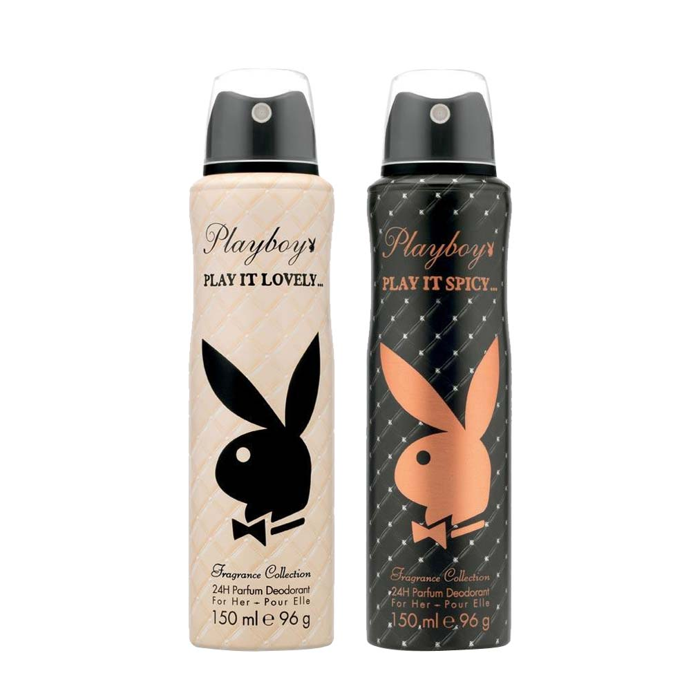 Playboy Play It Spicy And Lovely Pack Of 2 Deodorants