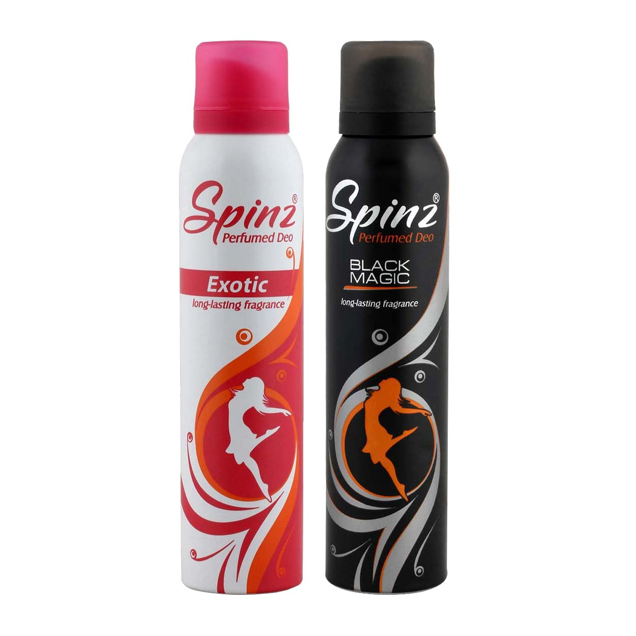 Spinz Exotic And Black Magic Pack Of 2 Deodorants