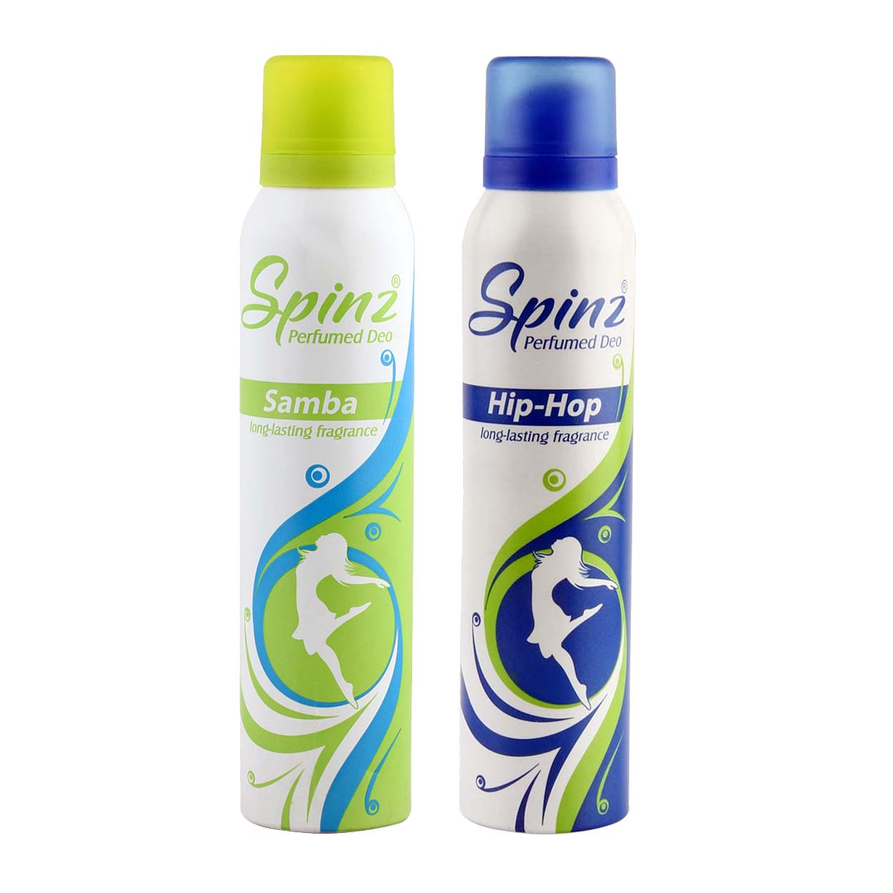 Spinz Hip Hop And Samba Pack Of 2 Deodorants
