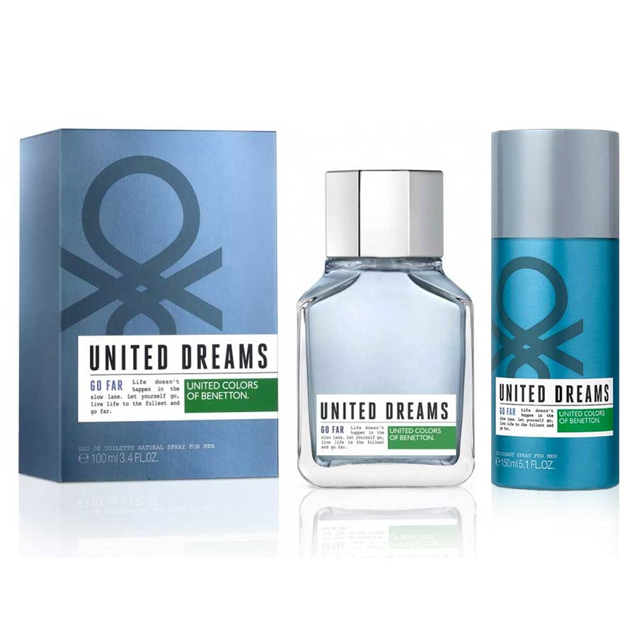United Colors Of Benetton Go Far Perfume And Deodorant Combo