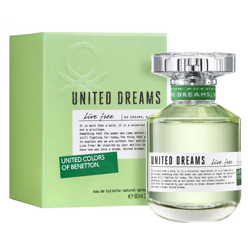 United colors of benetton live free edt perfume 80 ml for for Benetton we are colors