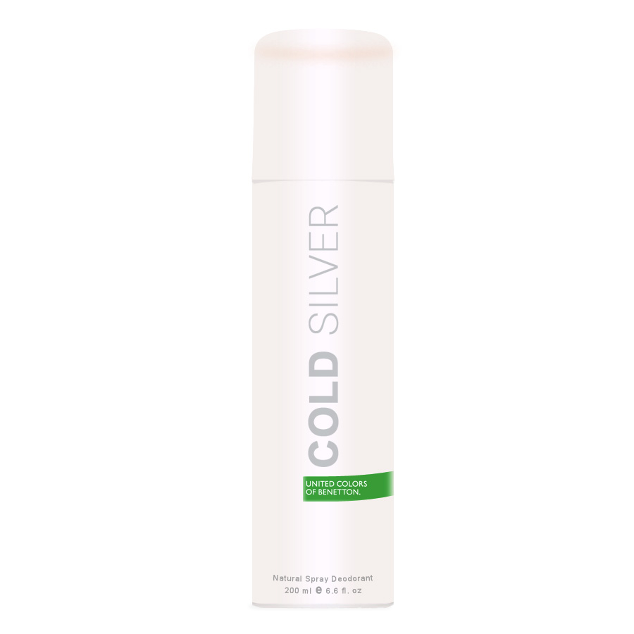 United Colors Of Benetton Cold Silver Deodorant