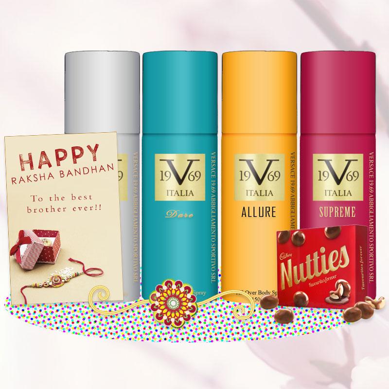 Versace V19.69 Deodorants Rakhi Gift Pack