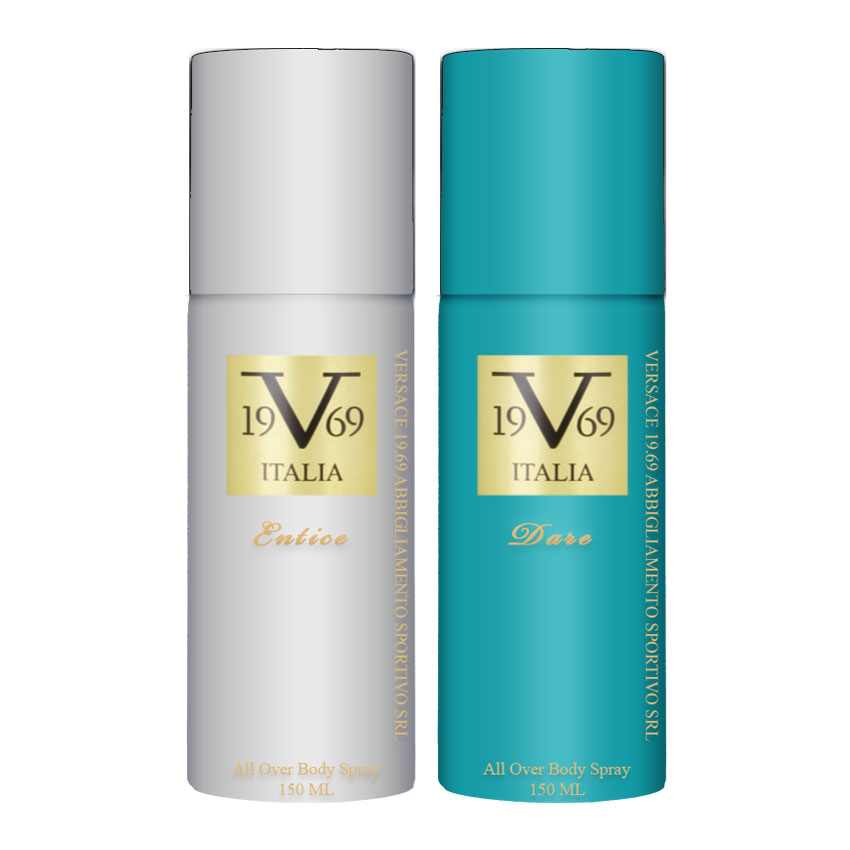 Versace V1969 Entice, Dare Value Pack Of 2 Deodorants