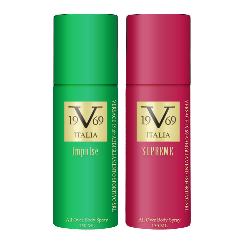 Versace V1969 Impulse, Supreme Value Pack Of 2 Deodorants