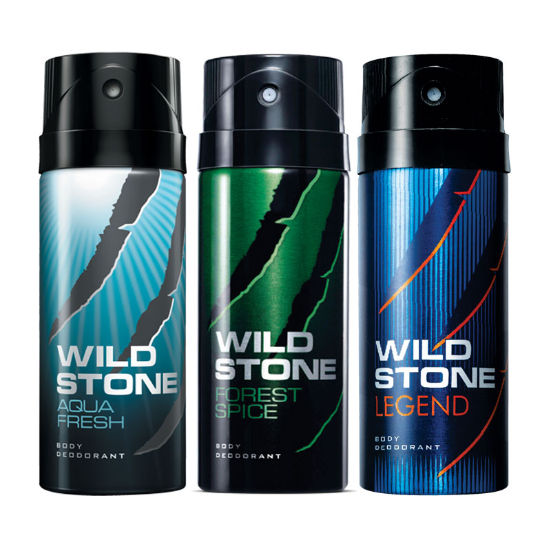 Wild Stone Aqua Fresh Forest Spice Legend Pack of 3 Deodorants