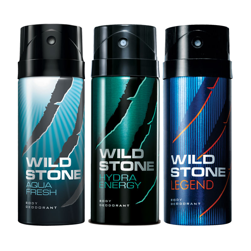 Wild Stone Aqua Fresh Hydra Energy Legend Pack of 3 Deodorants