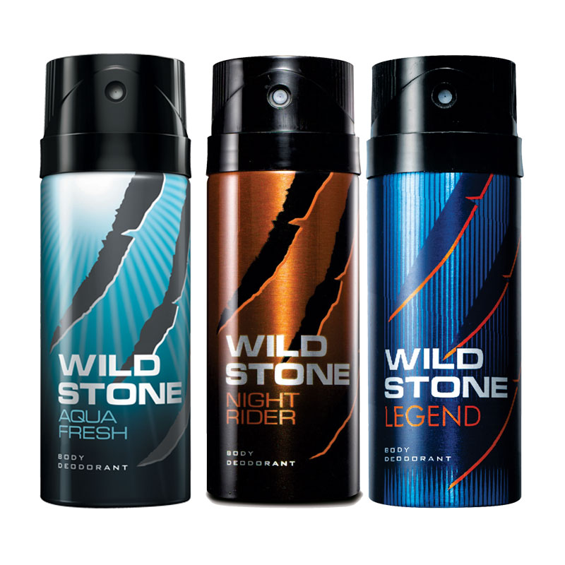 Wild Stone Aqua Fresh Night Rider Legend Pack of 3 Deodorants