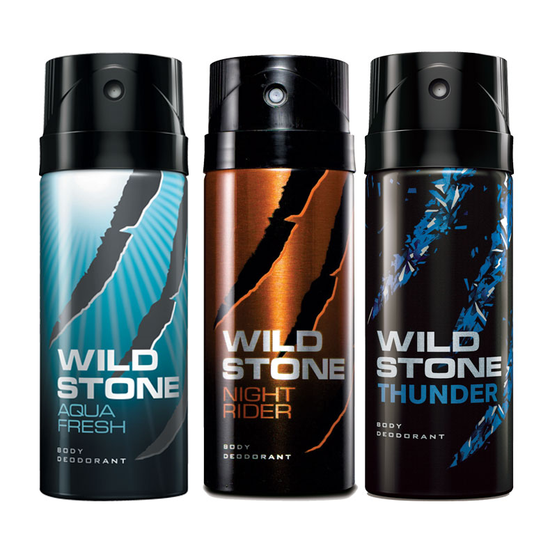Wild Stone Aqua Fresh Night Rider Thunder Pack of 3 Deodorants
