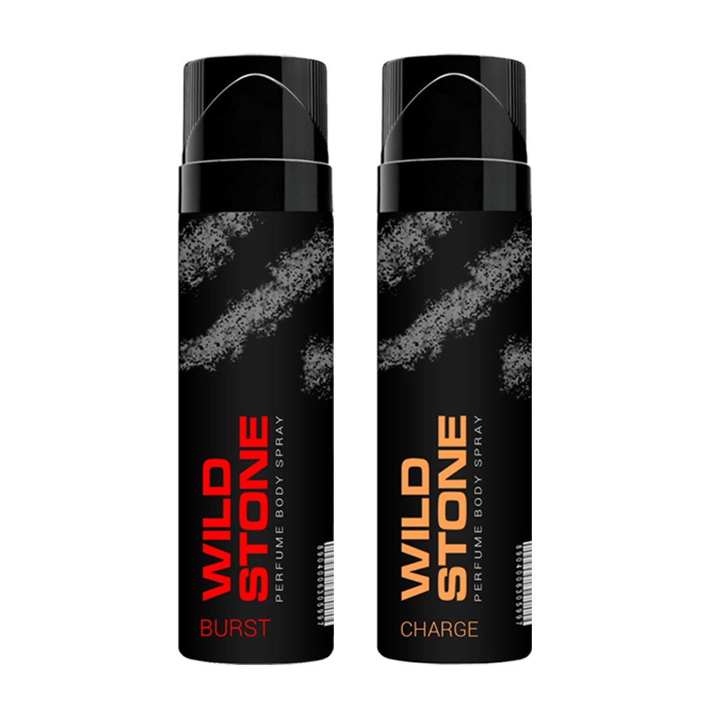 Wild Stone Burst And Charge Pack Of 2 No Gas Perfumed Deodorant Spray