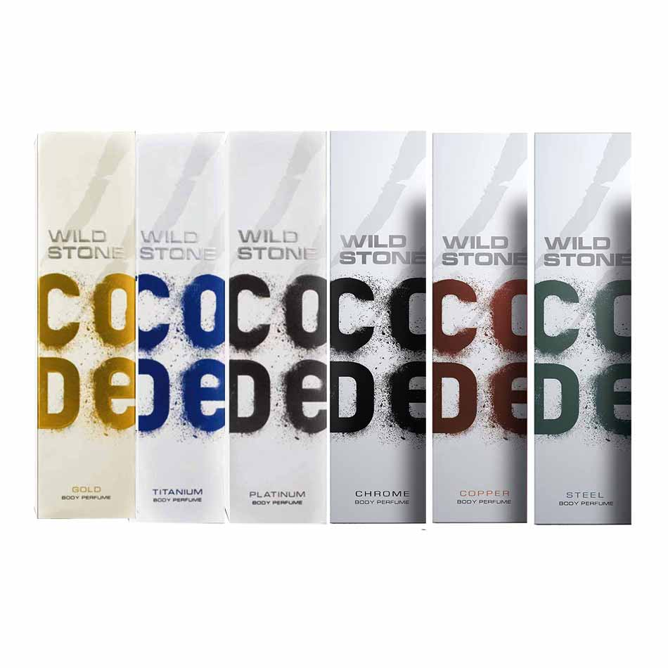 Wild Stone Code Metal Collection Pack Of 6 Perfume Body Sprays