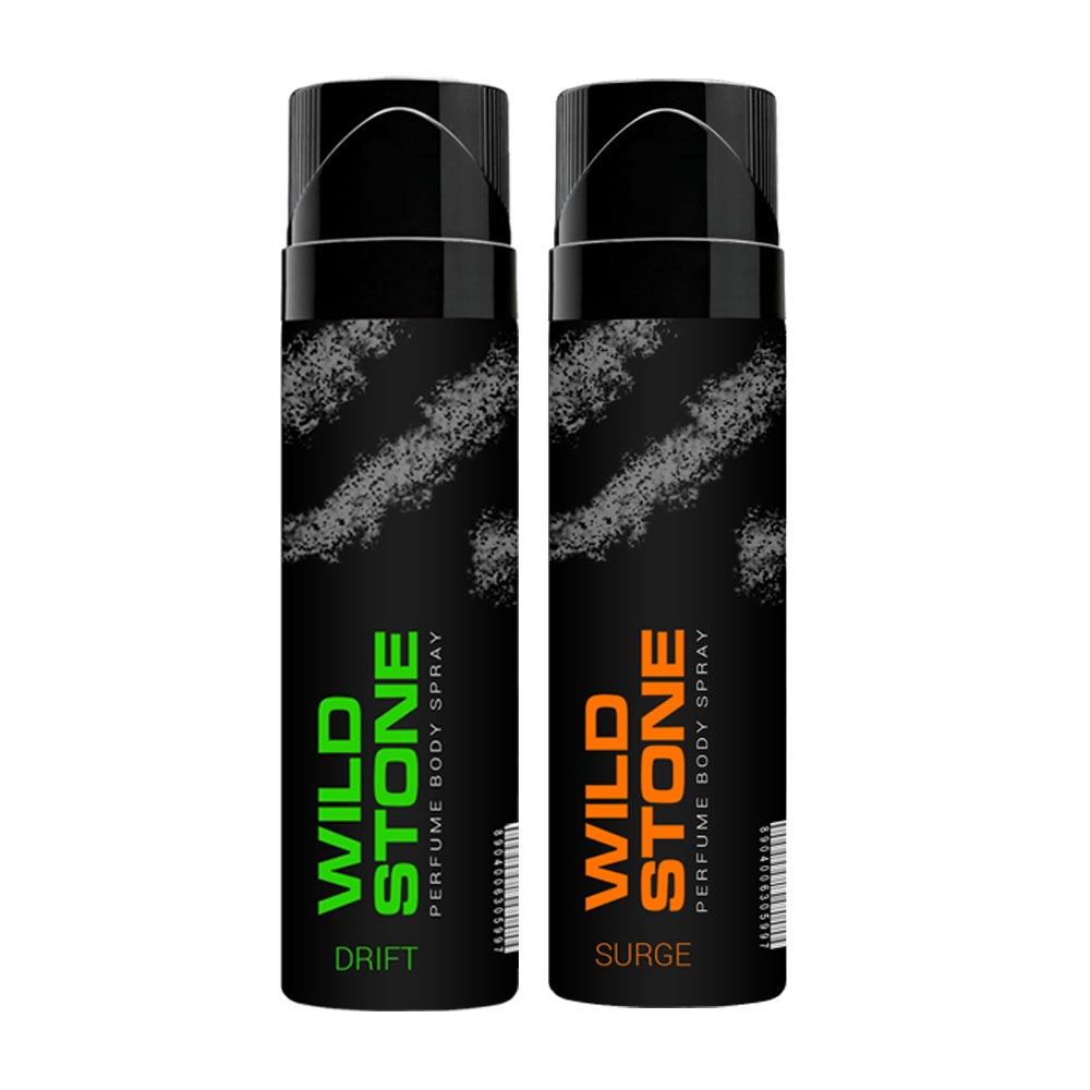 Wild Stone Drift And Surge Pack Of 2 No Gas Perfumed Deodorant Spray