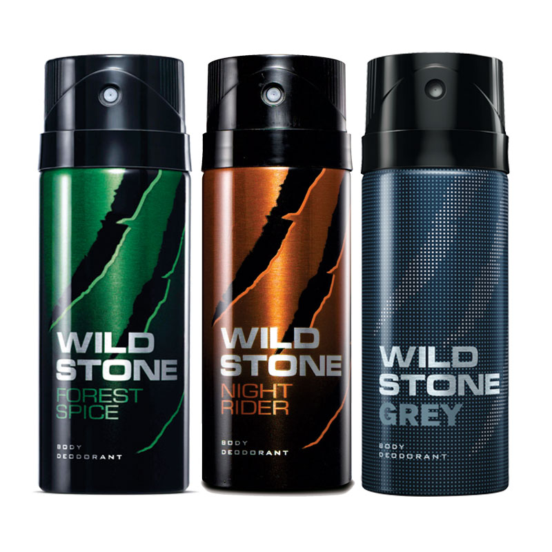 Wild Stone Forest Spice Night Rider Grey Pack of 3 Deodorants