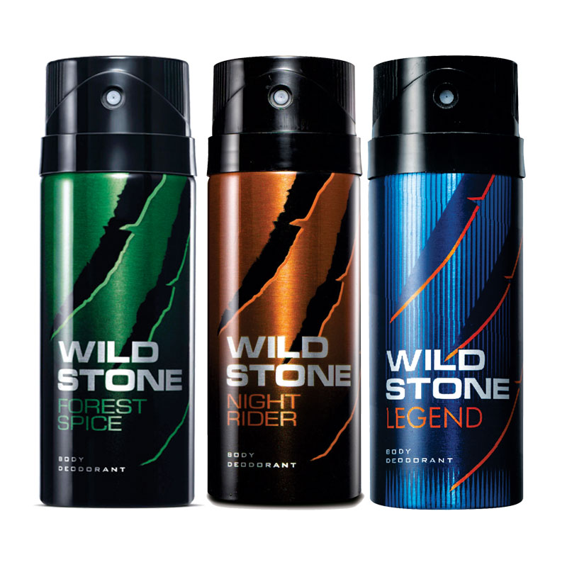 Wild Stone Forest Spice Night Rider Legend Pack of 3 Deodorants