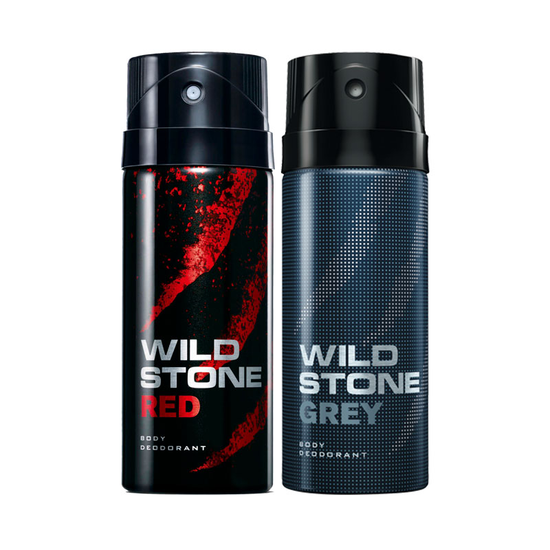 Wild Stone Red Grey Pack of 2 Deodorants