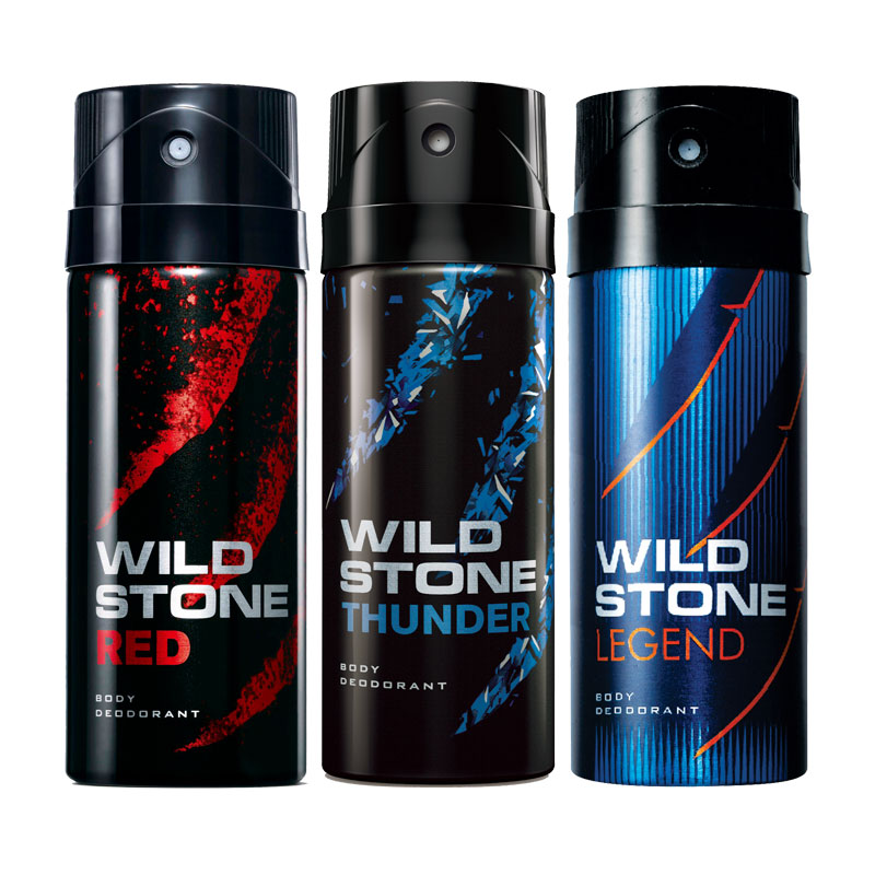 Wild Stone Red Thunder Legend Pack of 3 Deodorants