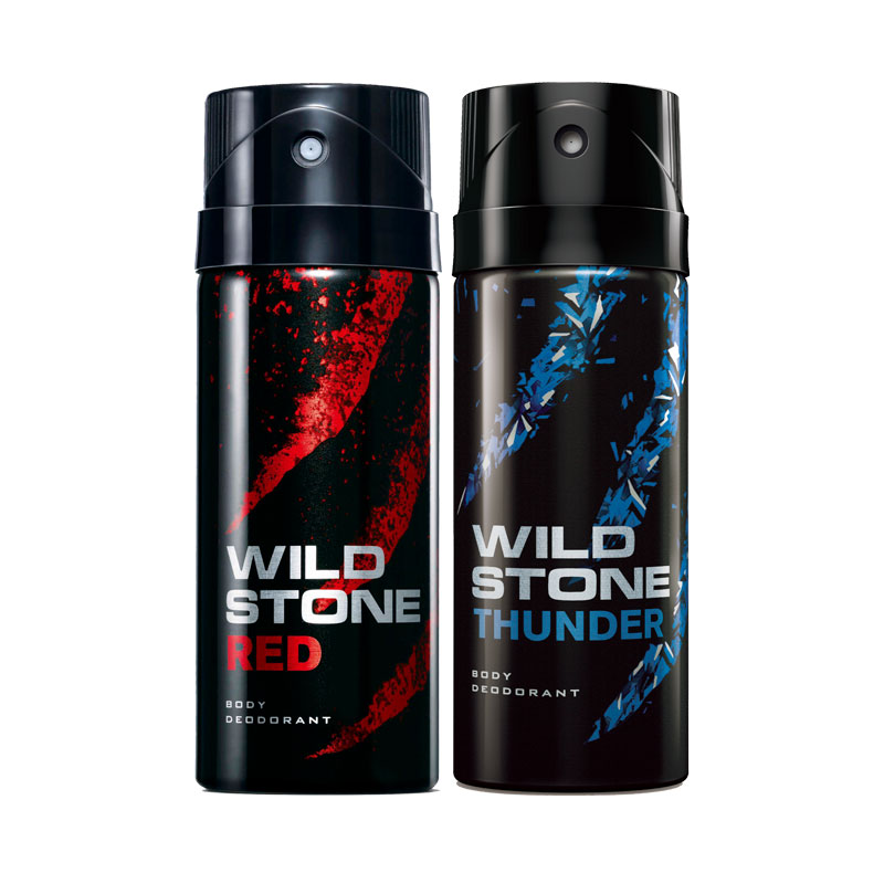 Wild Stone Red Thunder Pack of 2 Deodorants