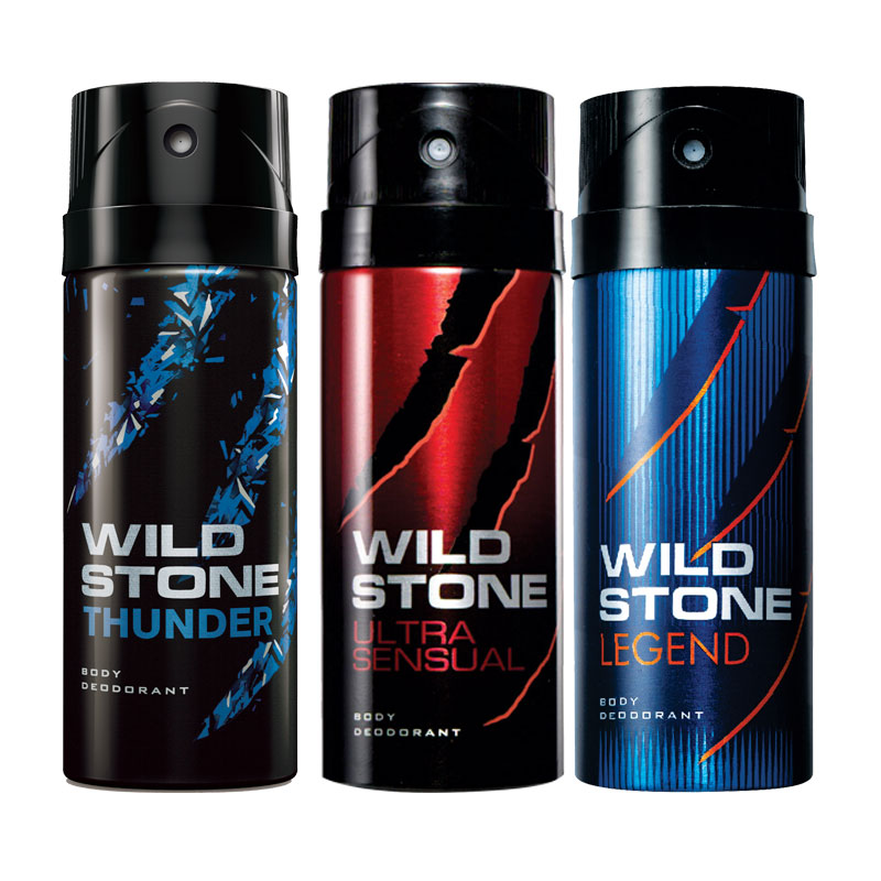 Wild Stone Thunder Ultra Sensual Legend Pack of 3 Deodorants