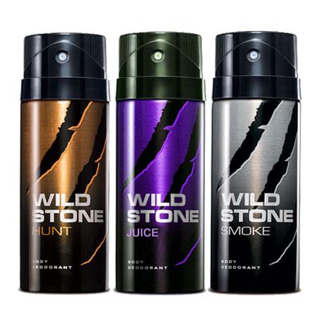 Wild Stone Hunt, Smoke, Juice Pack of 3 Deodorants