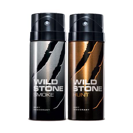 Wild Stone Hunt, Smoke Pack of 2 Deodorants