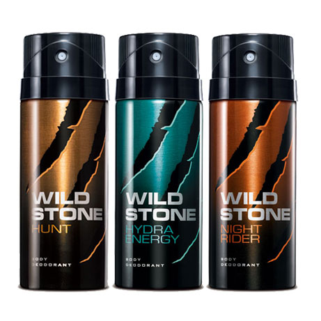 Wild Stone Hydra Energy, Night Rider, Hunt Pack of 3 Deodorants