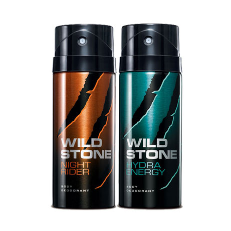 Wild Stone Hydra Energy, Night Rider Pack of 2 Deodorants