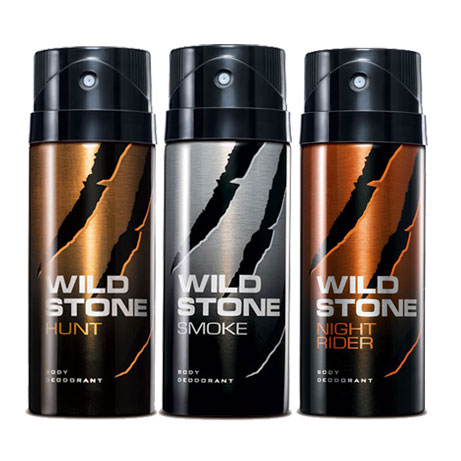 Wild Stone Night Rider, Hunt, Smoke Pack of 3 Deodorants