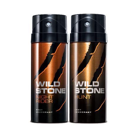 Wild Stone Night Rider, Hunt Pack of 2 Deodorants