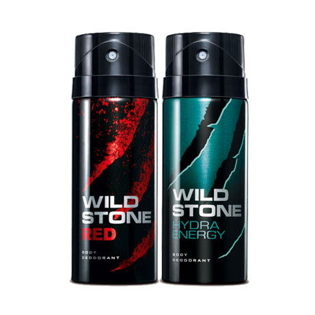 Wild Stone Red, Hydra Energy Pack of 2 Deodorants