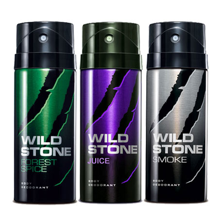 Wild Stone Smoke, Juice, Forest Spice Pack of 3 Deodorants