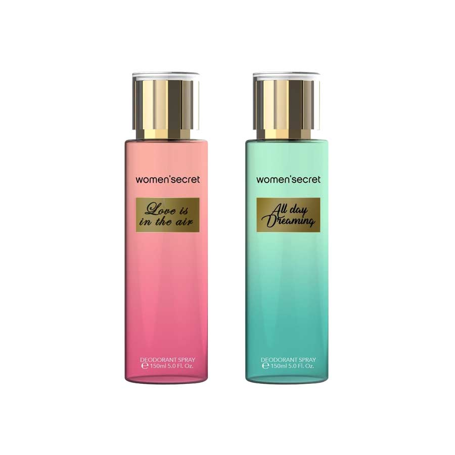 Women Secret Love Is In The Air, All Day Dreaming Pack of 2 Body Mists