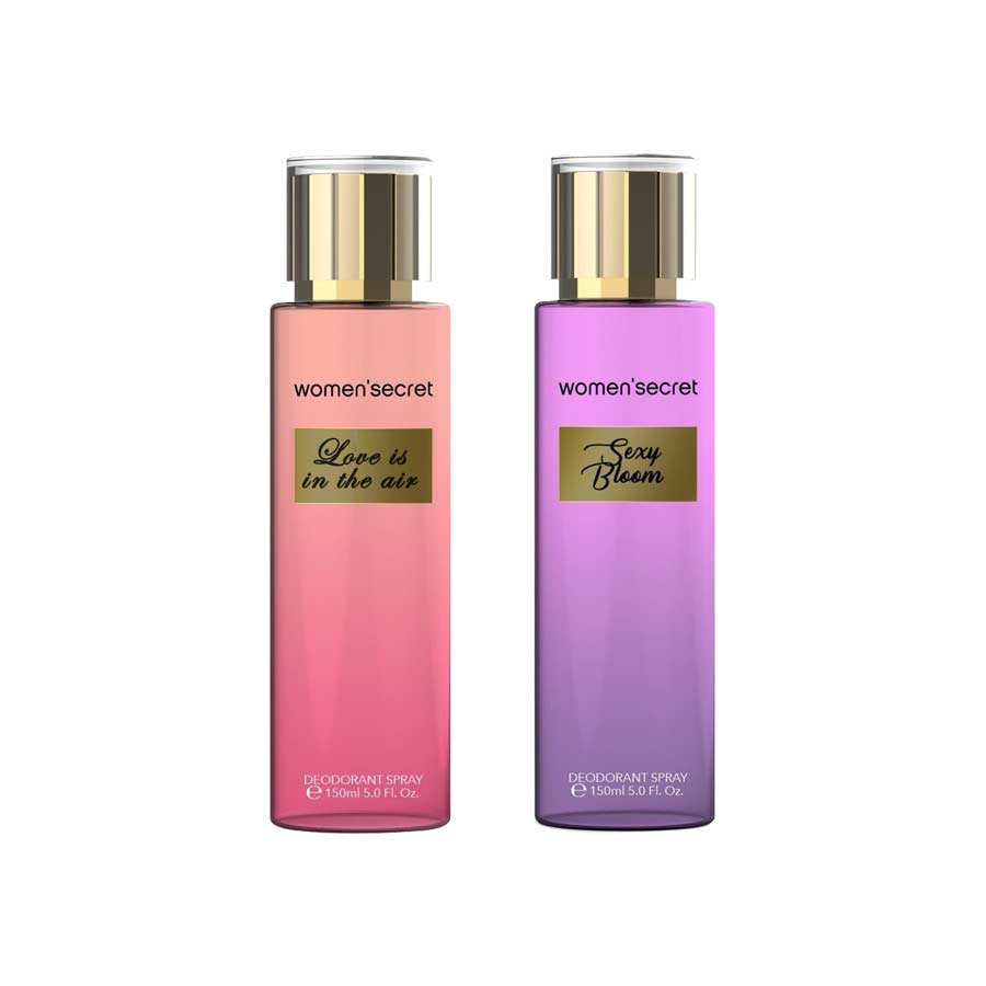Women Secret Love Is In The Air, Sexy Bloom Pack of 2 Body Mists