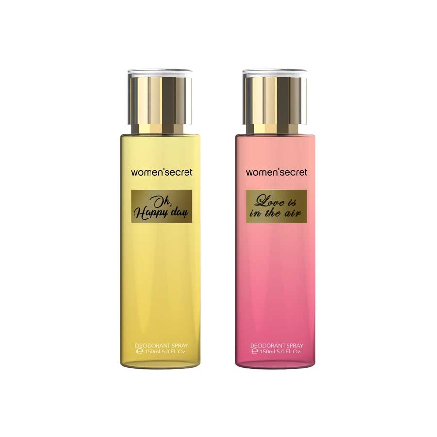 Women Secret Oh Happy Day, Love Is In The Air Pack of 2 Body Mists