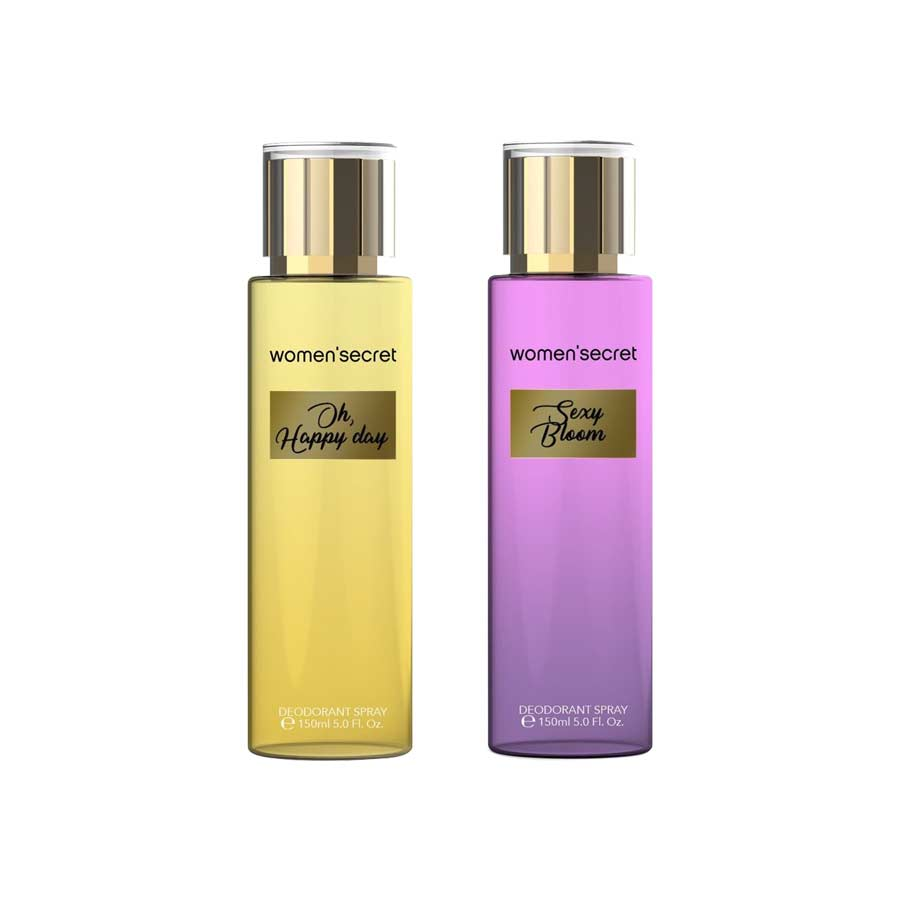 Women Secret Oh Happy Day, Sexy Bloom Pack of 2 Body Mists