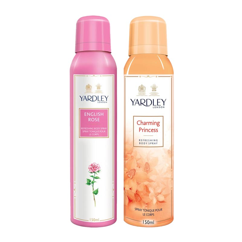 Yardley London English Rose, Charming Princess Pack of 2 Deodorants