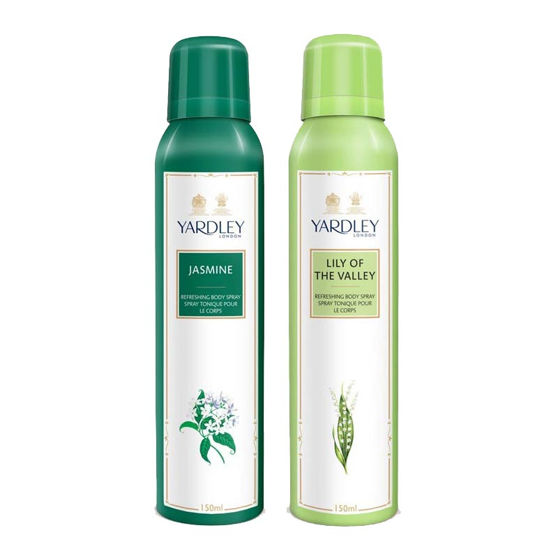 Yardley London Jasmine, Lily Of The Valley Pack of 2 Deodorants