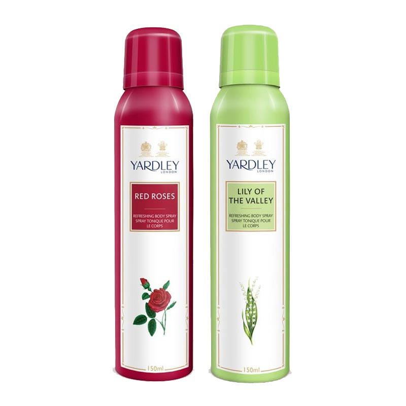 Yardley London Red Roses, Lily Of The Valley Pack of 2 Deodorants